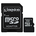 Карта памяти microSDHC 8GB, Kingston SDC4/­8GB