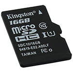 Карта памяти microSDHC 16GB, Kingston SDC10G2/­16GBSP