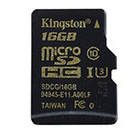 Карта памяти microSDHC 16GB, Kingston SDCG/­16GBSP