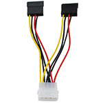 Конвертер Molex 4pin-2 x Sata power